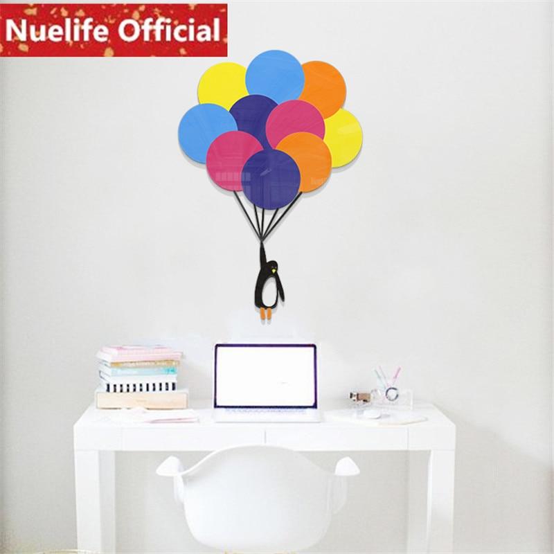 Autour du ciel petit pingouin ballon 3D acrylique stickers muraux chambre enfants chambre maternelle fond stickers muraux N4 - 2
