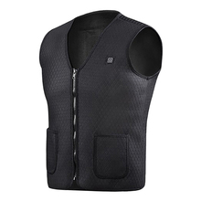 2019 Women Winter V-Neck Solid Heating Vest Smart vests Usb Electric heating Casual Underwear