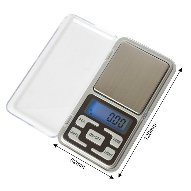 Electronic LCD Display Scale Mini Pocket Digital For Jewelry 100/200/300/500g X0.01g High Accuracy Weigh Balance 3
