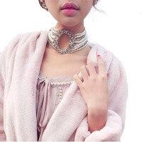 High End Custom Luxury Multilayer Pearl Rhinestone Flower Choker Necklace Women Party Wedding Collar Jewelry New