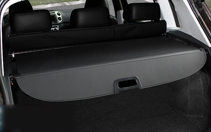 Car Black Cargo Cover Security Shield For Volkswagon VW Tiguan 2010-2015 car rear trunk security shield cargo cover for volkswagen vw tiguan 2016 2017 2018 high qualit black beige auto accessories