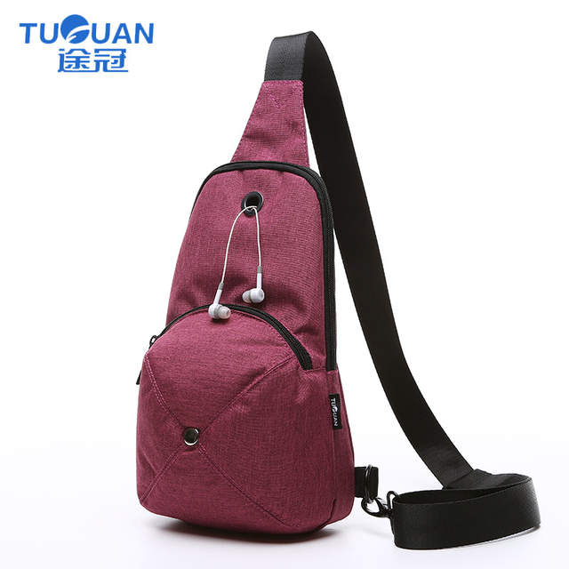 dcc2b5a858 TUGUAN Travel handbag Men Crossbody Bags Chest Water Proof Handbags For  Male Single-strap bag