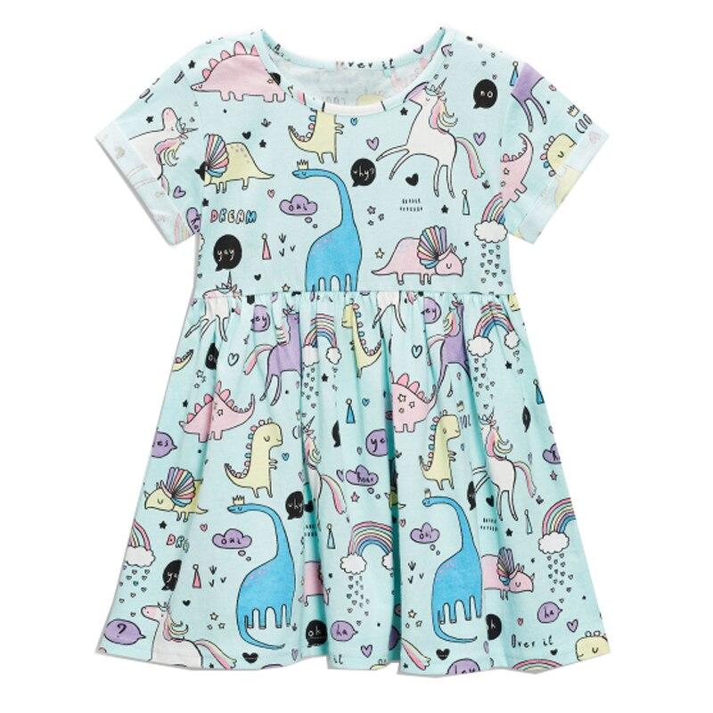 Платье для маленьких девочек летние Единорог Костюм для детская одежда 2018 брендовые Детские праздничные платья животного Обувь для девочек одежда платье принцессы