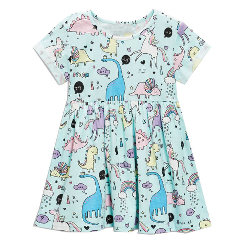 732bfc7e5cb Платье для маленьких девочек летний костюм единорога для детская одежда 2018  Детские праздничные платья для девочек