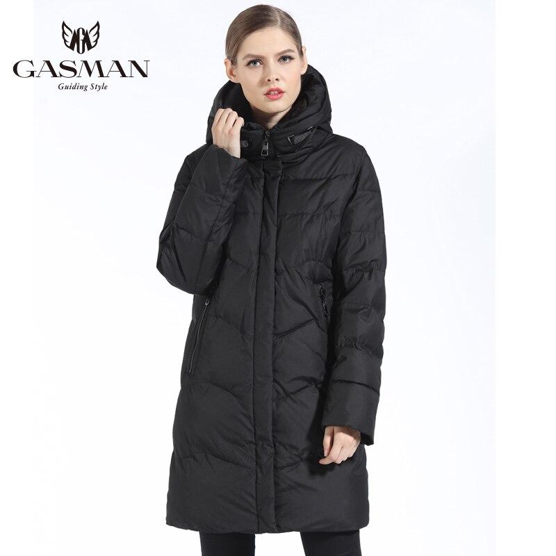 GASMAN 2019 Femmes Veste D'hiver Vers Le Bas Long Femelle manteau d'hiver épais Pour Femmes À Capuchon Vers Le Bas Parka Chaud Vêtements grande taille 7XL 6XL - 4
