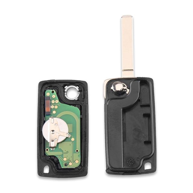 Chiave Telecomando per  Citroen c5 c4 433Mhz ID46 PCF7941 VA2 Blade 3 tasti 2