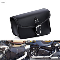 Motorcycle Saddle Bag PU Leather tank bag Tool Pouch Side harley saddlebag Cruiser Storage High Capacity Durable Left/Right