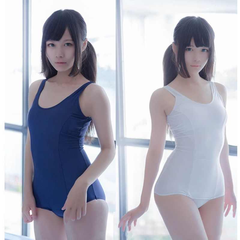 Nie żyje dolina woda japoński strój kąpielowy Student Siamese kostium kąpielowy japoński mundurek szkolny Cosplay kostium Bikini jednoczęściowy strój kąpielowy