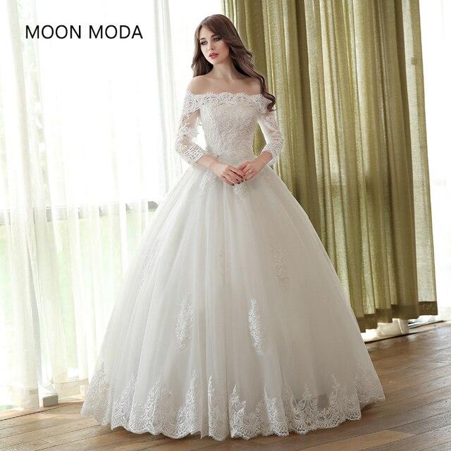 Lengan Gaun Pengantin Muslim 2019 Princess Bride Sederhana Gaun