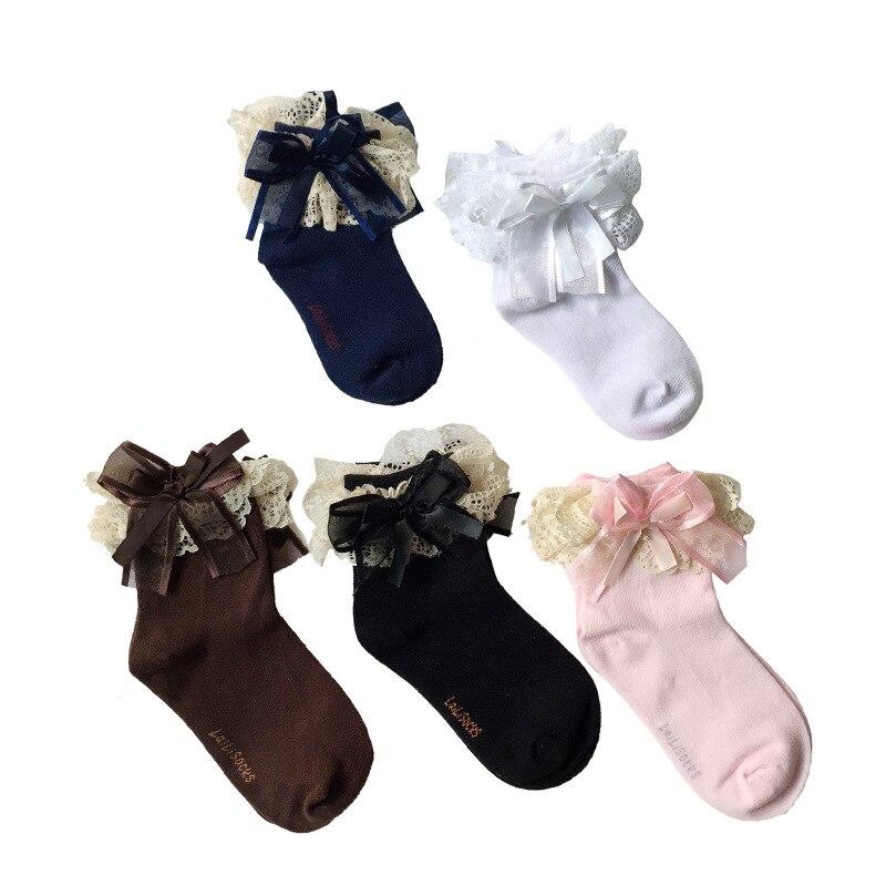 Новый Кружево детей Обувь для девочек Носки для девочек Дети принцесса носки для девочек Балетные костюмы для танцев хлопок Гибкие Новый Го...