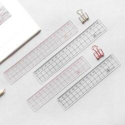 JIANWU 2 pcs ESTILO MUJI 15 cm 18 cm 20 cm governante governante acrílico Transparente Simples Aprender desenho papelaria suprimentos