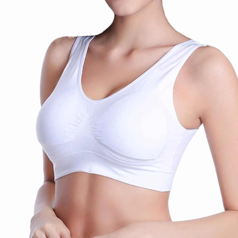 47cf7889cd ... Sexy backless push up bra women big size padded bras plus size wireless  brassiere comfortable seamless ...