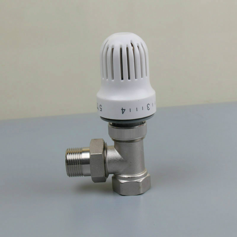 thermostatic radiator valve Floor heating system Thermostatic Radiator Valve Angle valve DN15-DN20 dn15 automatic bypass valve for wall mounted boiler system