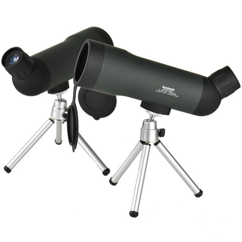 Mini <font><b>20x50</b></font> Zoom HD Outdoor <font><b>Monocular</b></font> Telescope Night Version Spotting Scope With Portable Tripod Army Green image