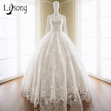 White Wedding Dresses Long Appliques Backless Bridal Formal Dress vestido de noiva Uniques Elegant Women Wedding Gowns Dresses