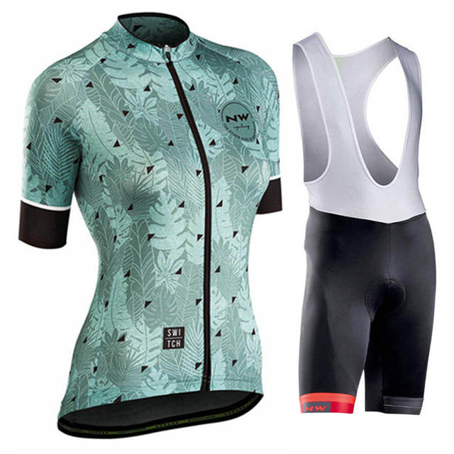 6596a4493748 NW 2018 nuevo conjunto de Jersey ciclismo para mujer, ropa manga corta,  equipo profesional secado rápido, bicicleta, bicicleta