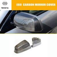 E60 Carbon Fiber Front Side Mirror Cover Cap Trim for BMW E60 5 Series 520i 523i 530i 535i 520d 525d 530d 535d 2004 2009