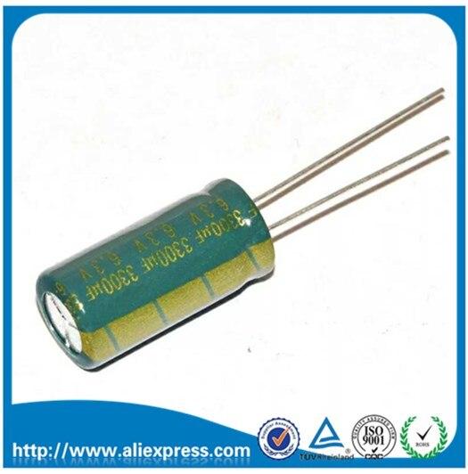 10 Uds 6,3 V 3300 UF 3300 UF 6,3 V condensador electrolítico aluminio tamaño 10*20MM 6,3 V/3300 UF Capacitor electrolítico con envío gratis