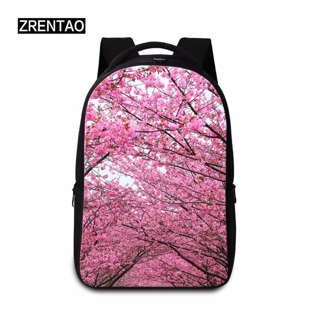 5dd3b745c6 Lightweight 3D Floral Pretty Print Womens School Laptop Backpacks Girls  Schoolbag With Computer Pockets Teenagers Trip Daypacks