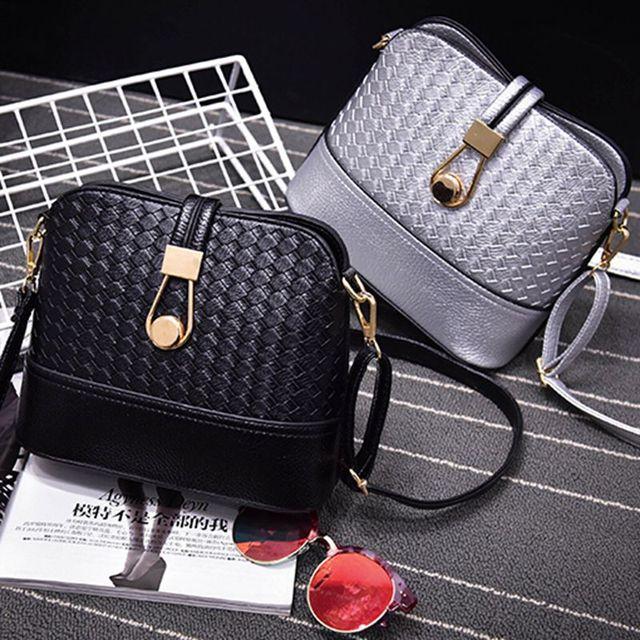 Women Sling Bags Weave shell Women Shoulder Bags Fashion Leather Sling Crossbady Bag messenger bag 5