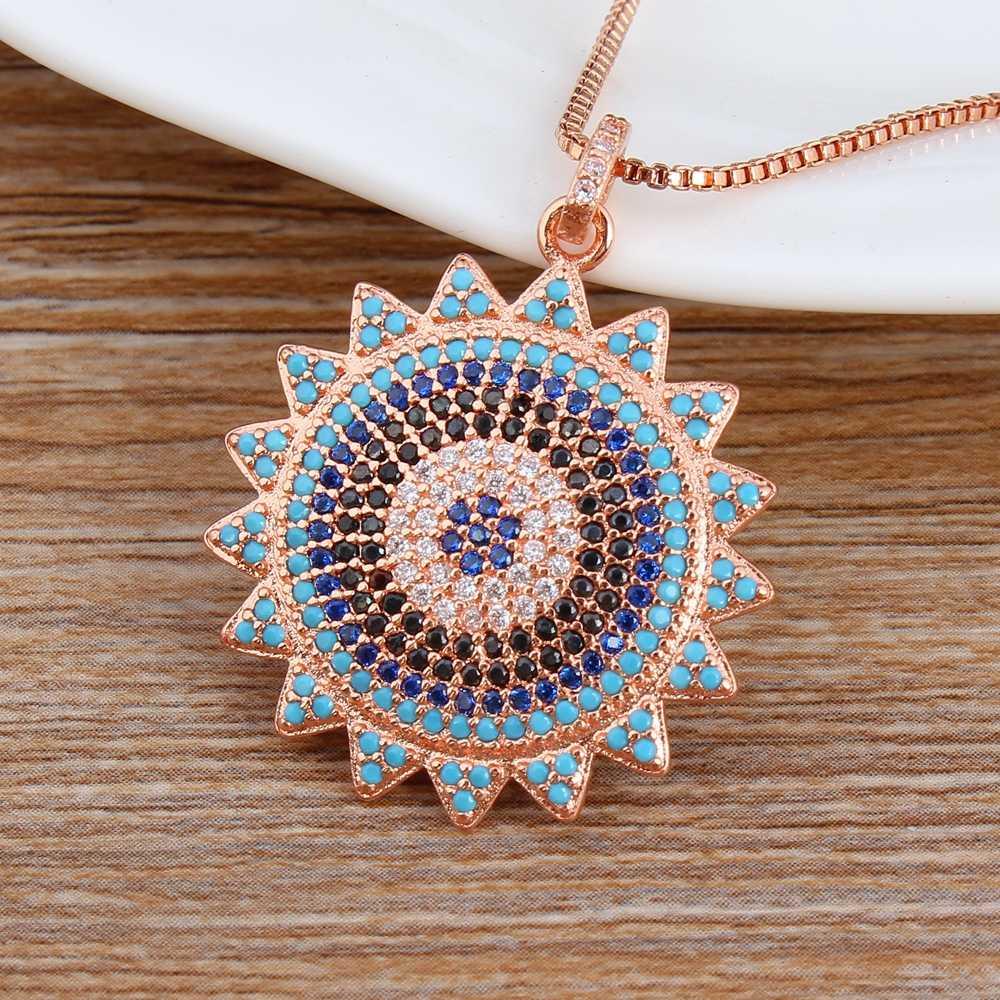 Spersonalizowane niestandardowy projekt CZ koraliki miedź łańcuchy słonecznika wisiorki/biżuteria do własnoręcznego wykonania mężczyźni kobiety strony rodziny sportowe ślub naszyjnik