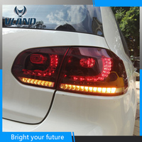 Vland задние фонари заднего лампа для Volkswagen Golf MK6 VI GTD/GT1 2009 2010 2011 2012 2013 светодиодный красный задние фонари F