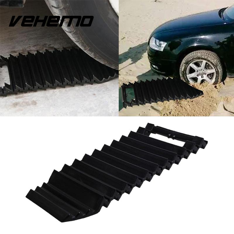 Vehemo Black ABS Tire Mat Tire Non-Slip Mat Emergency Snow Mat Roadway Safety Anti-Skid Board Thickened Truck SUV