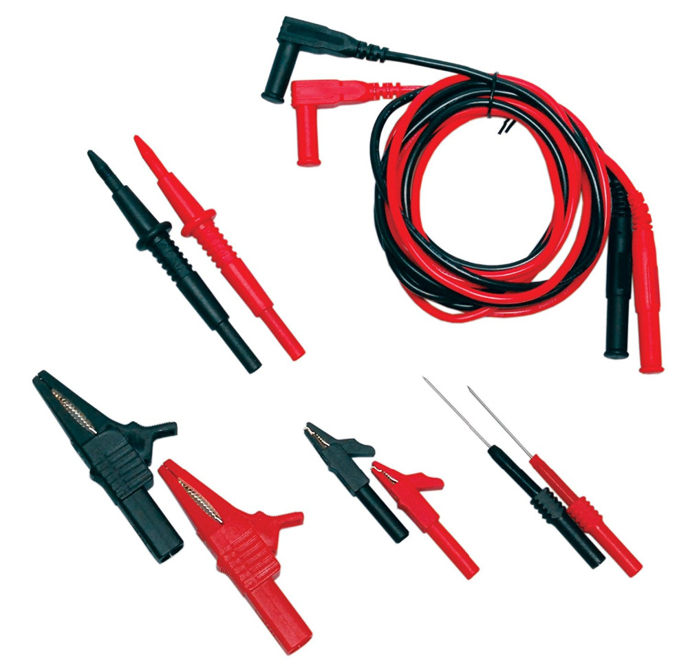 цена на Multimeter Test Leads Electronic Professional Test Lead Kit Test Lead Probe Kit Includes Lead Test Probes Hooks Alligator Clip