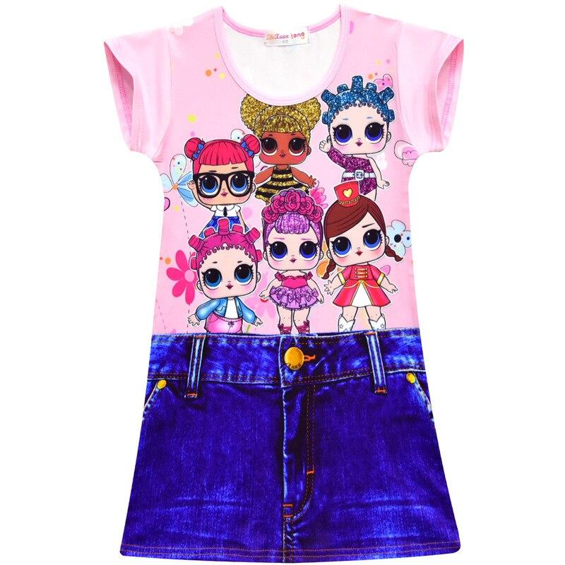 30b1e41448 Moana lány ruha mágikus trollok mák ruhák nyári teljes nyomtatás ...