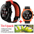 7in1 For xiaomi Huami Amazfit Stratos 2 strap silicone band bracelet Protective cover cases huami amazfit 2 screen protector