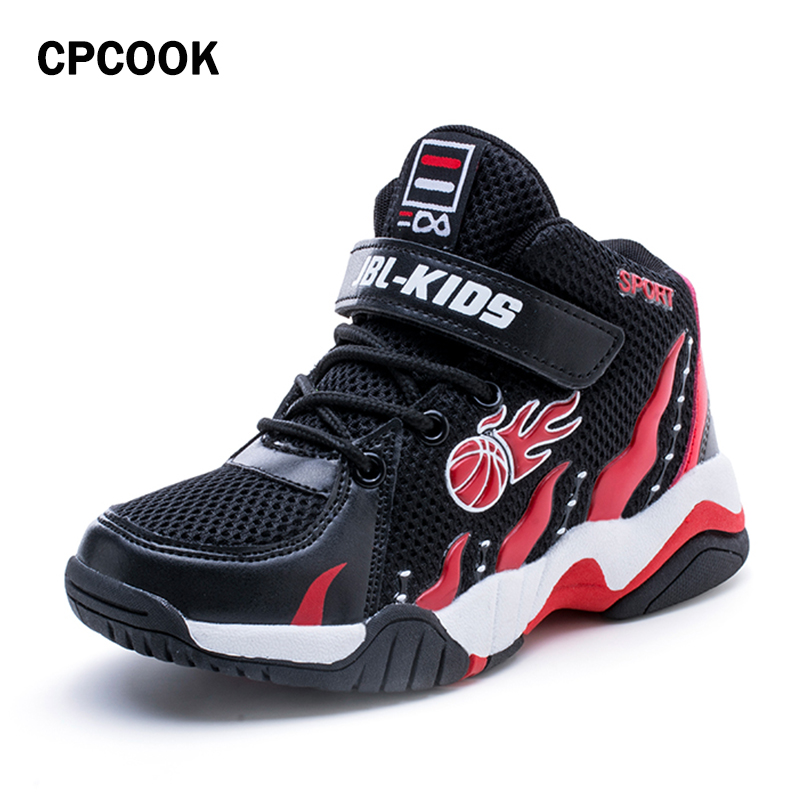 2018 New High Quality Sports Boy Basketball Shoes Cheap Kids Anti-Slip Sneakers Training Shoes Boys Basketbol Ayakkabi
