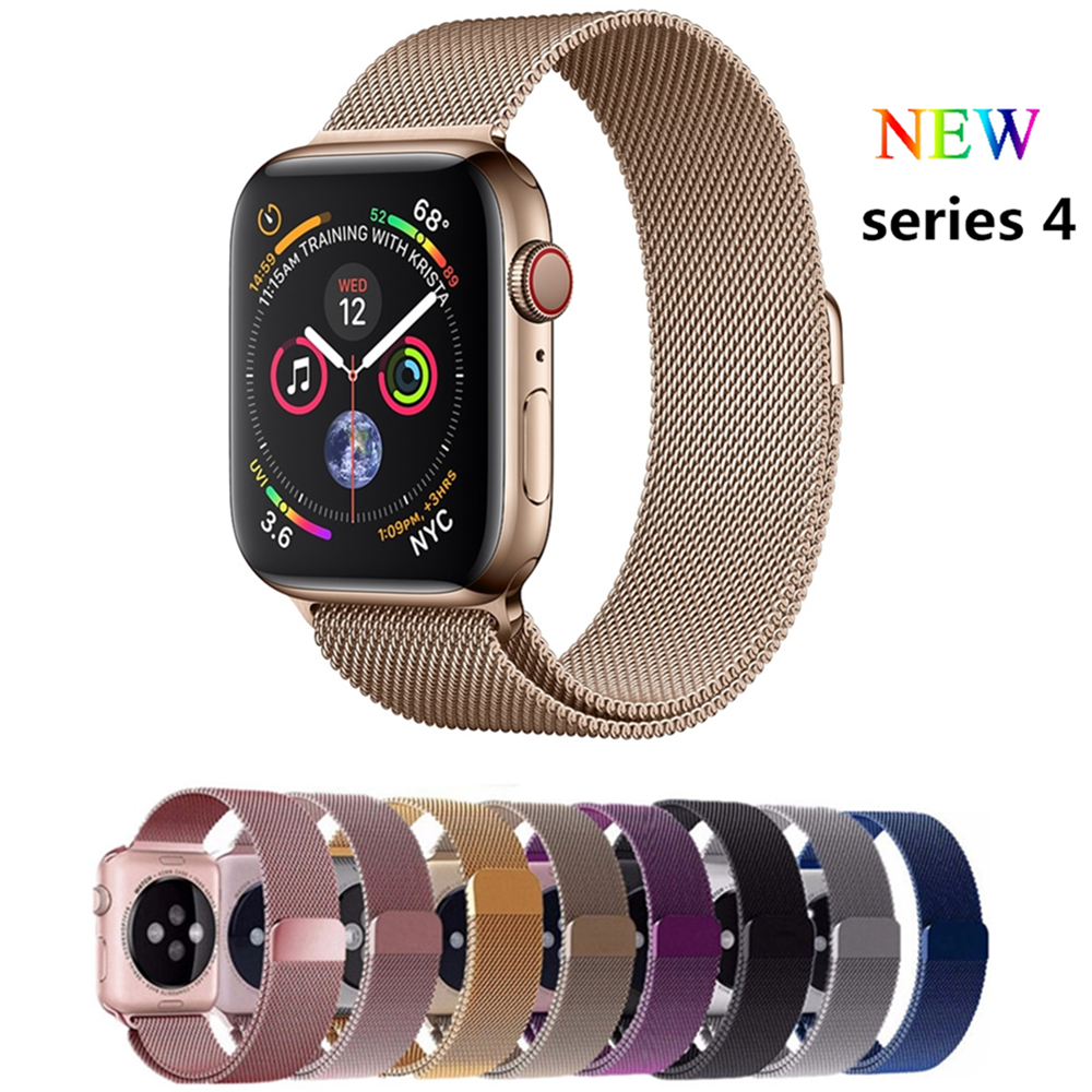 Milanese loop band for apple watch 4 44mm 40mm correas aple watch 42mm 38mm stainless steel watchbands wrist belt iwatch 4/3/2/1 so buy for apple watch series 3 2 1 watchbands 38mm belt 42mm stainless steel bracelet milanese loop strap for iwatch metal band
