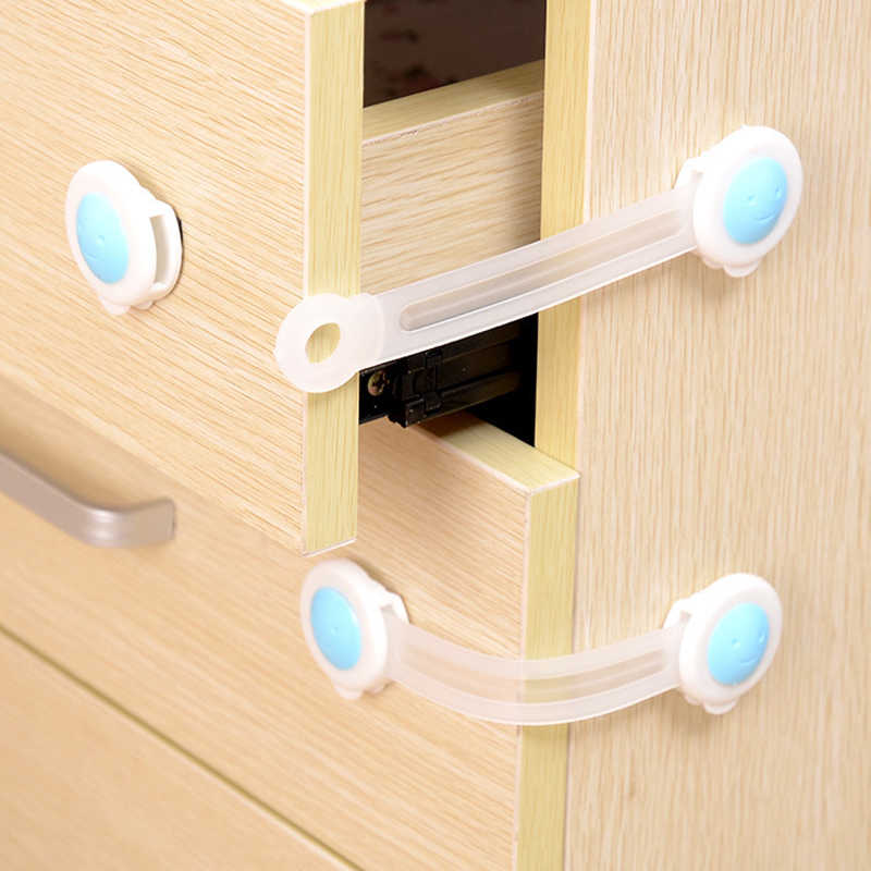 Child Lock Protection Of Children Locking Doors For Children's Safety Kids Safety Plastic Lock For Child Baby Drawer Lock SF011