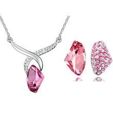 f3f0c7c92d1b 2017 regalos de Navidad al por mayor de la fábrica de cristal austriaco de  pendientes de collar de diamantes de imitación colgan.