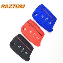 Car Accessories Key Case Key Bag Key Cover For Volkswagen for VW Golf 7 mk7 for Skoda for Octavia A7 Silicone Key Portect Case