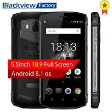 Blackview BV5800 Smartphone IP68 Su Geçirmez 5.5 inç 18:9 HD + Android 8.1 Cep Telefonu Çift Arka Kamera 13.0MP NFC GPS cep tele...