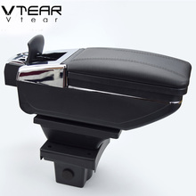 hot deal buy vtear for skoda octavia yeti armrest box central store content box storage interior car-styling decoration accessories parts