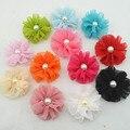2014 New Fashion baby girls hair clips chiffon flowers hair clips hairpins for kids girls hair accessories  6pcs/lot