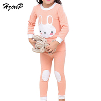 HziriP New Autumn Winter Kids Pajamas Cute Cartoon Warm Underwear Sets Long Sleeve T Shirt Pants