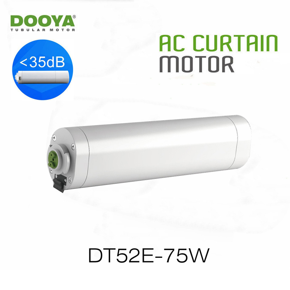 Dooya Electric Curtain Motor DT52E 75W Open/Close Motor RF433 Remote Control Smart Home Automation,Project Special Motor,220V dooya dt52e electric curtain motor 220v 45w open closing window curtain track motor home automatic curtain motor for project
