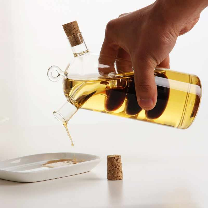 Botol Minyak Tahan Suhu Tinggi Cuka Kaca Botol Saus Botol Disegel Bumbu Penyimpanan Kecil Botol Anggur Oil