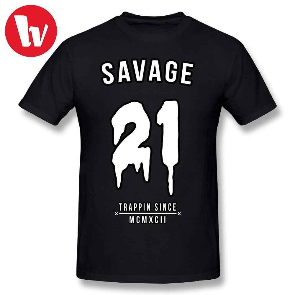 9a7c2da371dd 21 Savage T-Shirt Men 3d Print Cute T Shirt Fashion Shirt Short Sleeve Funny