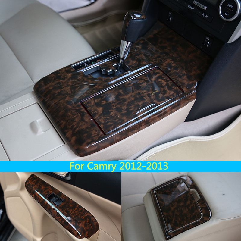 Carbon fibre imitation wooden interior modified - 2013 toyota camry interior parts ...