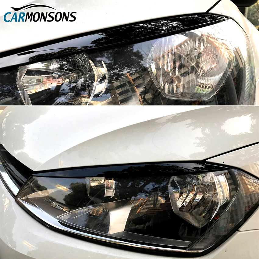 Carmonsons Headlights Eyebrow Eyelids Trim Stickers Cover For Volkswagen VW Golf 7 MK7 GTI R Rline Accessories Car Styling