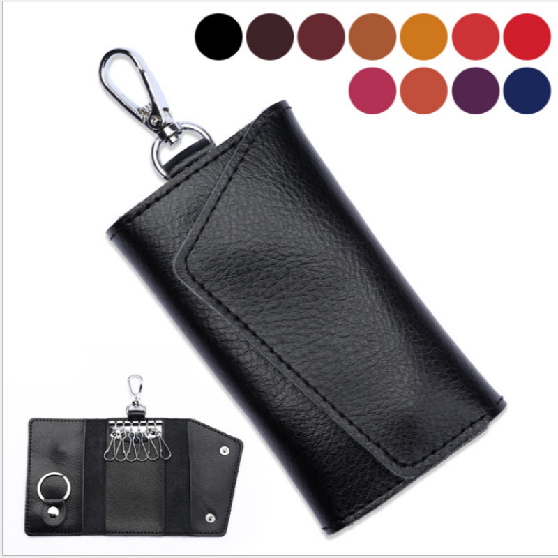 Fashion Simple Key Holder Genuine Leather Wallet 1