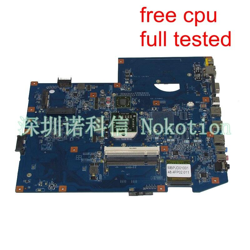 NOKOTION MBPJD01001 MBP.JD01.001 Main board For Acer aspire 7540 Laptop Motherboard 48.4FP02.011 Socket S1 ddr2 free cpu nokotion mbpce01001 laptop motherboard for acer aspire 7535 ddr2 socket s1 with graphics card slot 48 4ce01 021 mainboard works