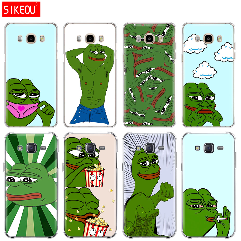 silicone cover phone case for Samsung Galaxy J1 J2 J3 J5 J7 MINI 2016 2015 prime Cute Frog Meme Animal funny image