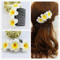 LARGE 12cm length  9 kinds of color you choose Fabulous Hawaii Plumeria flowers Foam  Frangipani Flower comb bridal hair clip