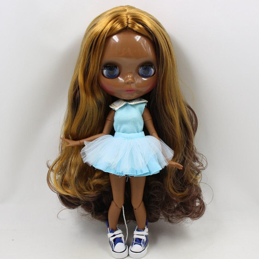 ICY ตุ๊กตาบลายธ์ BL0635/0222 สีน้ำตาลผสมผมสีทอง JOINT body Super สีดำ BJD Neo 30 ซม.-ใน ตุ๊กตา จาก ของเล่นและงานอดิเรก บน   1