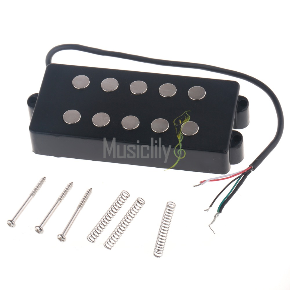 5 String Bass Pickup For Music Man Style Bass Parts kmise different black 4 5 6 string bass guitar pickup humbucker for music man bass coil tap set of 3